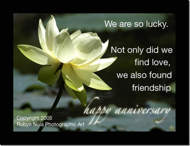 Happy Anniversary to My Husband http://darcsfalcon.wordpress.com/2008/11/07/lucky-in-love/