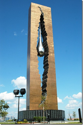 "The 9/11 memorial monument ""To the Struggle against World Terrorism"" a gift from the people of Russia to Bayonne in Bayonne, Tuesday, August 19, 2008. -- BYRON SMITH / THE JERSEY JOURNAL"